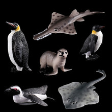 Plastic Toy Wild Penguin Fur Seal Simulated Solid Models Emulation Action Anime Figure Kids Toys for Boys Children.
