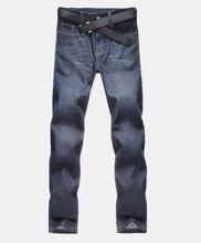 Мужские джинсы Homme джинсовые штаны для мужчин прямые повседневные обтягивающие мужской Slim Fit Одежда Большой размер 30-48 masculino мыть брюки E485
