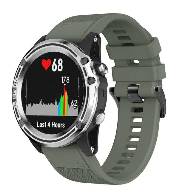 Quick easy fit silicone strap Watchband for Garmin Fenix 5 Sapphire Quatix 5 Forerunner 935 Approach S60 Premium smart watches
