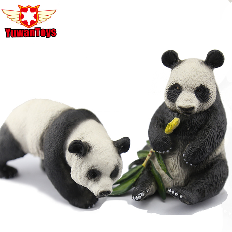 Classic Toys Very Realistic Wild Animals Model Series Panda Delicate Hand Paind PVC Toys Xmas Gift For Kids Early Education image