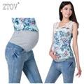 Ztov denim maternidade jeans plus size elásticas calças de cintura calças compridas para as mulheres grávidas roupa gravidez grávidas calças 8148 #