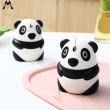 MeiJiaG Creative Automatic Toothpick Cartoon Panda Box Fashion Personality Cute holder cute containers