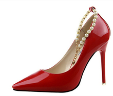 2016 Sexy Women's Pumps 10cm Ultra High Heels Platform Party Dance Shoes Pearl Pumps  Shoes Women's Wedding Shoes