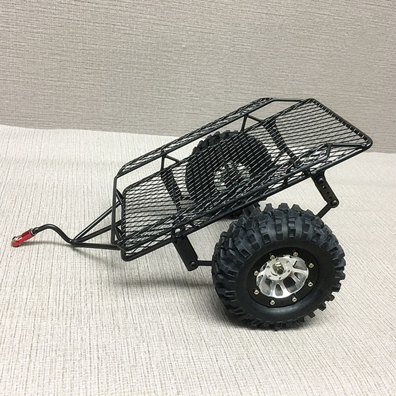 1/10 Scale RC Crawler 1:10 D90 SCX10 CC01 DIY Metal Drag Chain  Leaf Spring Hitch Mount Tow Trailer