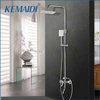 """Kemaidi 1 conjunto de banho chuveiro torneiras conjunto misturador do banheiro chuveiro da banheira chuvas parede torneira 8 """"cabeça chuveiro"""