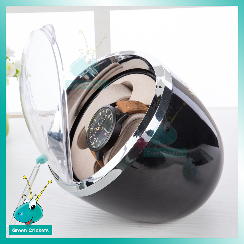 Q20BK ABS Watch Accessories Mini Watch Winder,Black Color Daul channel 3 Modes Automatic Watch Winder цена и фото