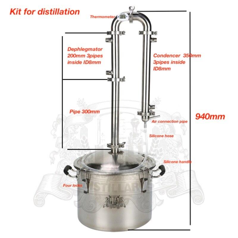Kit para destilação. 25l tanque e 1.5