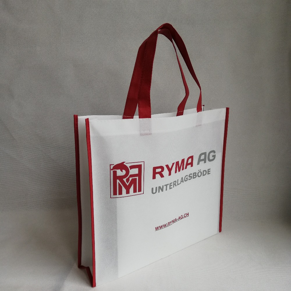 c507f5f134 Wholesale 500pcs lot Custom Printing Your Logo Eco-friendly Reusable Grocery  Promotional Non Woven