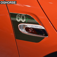 2 Pieces Genuine Carbon Fibre Car Side Wing Scuttle Fender Stickers Cover for BMW Mini Cooper F55 F56 Accessories Car Styling