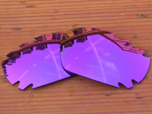 Plasma Purple Mirror Polarized Replacement Lenses For Jawbone Vented Sunglasses Frame 100% UVA & UVB Protection