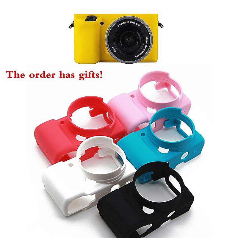 JENO TTY JM Silicone Rubber Camera Bag Protective Body Cover Case For Sony A5100/A5000 A6000 A6300 A6400Camera protection sleeveJENO TTY JM Silicone Rubber Camera Bag Protective Body Cover Case For Sony A5100/A5000 A6000 A6300 A6400Camera protection sleeve