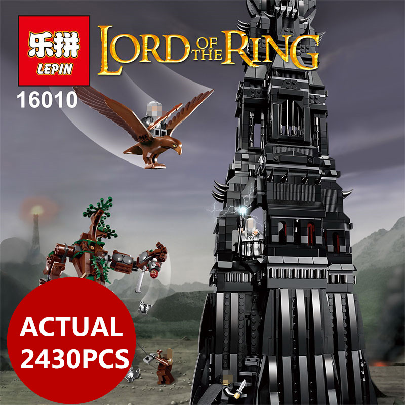 Lepin 16010 2430 pcs movie series Lord of the Rings The Tower set Building Blocks bricks Toys compatible 10237 birhday gifts dr tong single sale the lord of the rings medieval castle knights rome knights skeleton horses building bricks blocks toys gifts