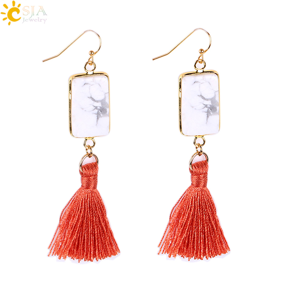 4 Pairs Fringe Tassel Statement Earrings for Women Girls Fashion Jewelry Vintage Boho Dangling Thread Drop Hoop Stud Bohemian Dangle Earrings
