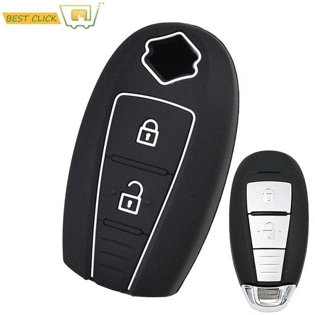Silicone Case Capa Chave Para Suzuki Kizashi Vitara Swift Ignis SX4 Baleno Ertiga Fob Keyless Shell Pele Protector Titular
