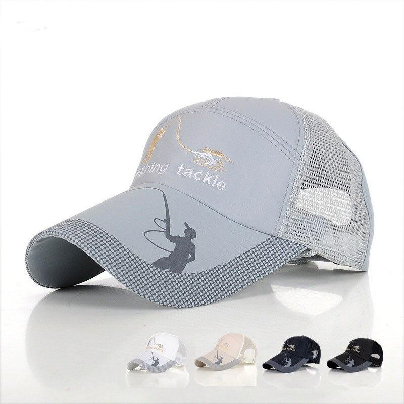 200PCS / LOT 2018 casual Summer Breathable cotton Mesh Baseball Caps for men woman Outdoor Embroidery Snapback Bone baseball hat