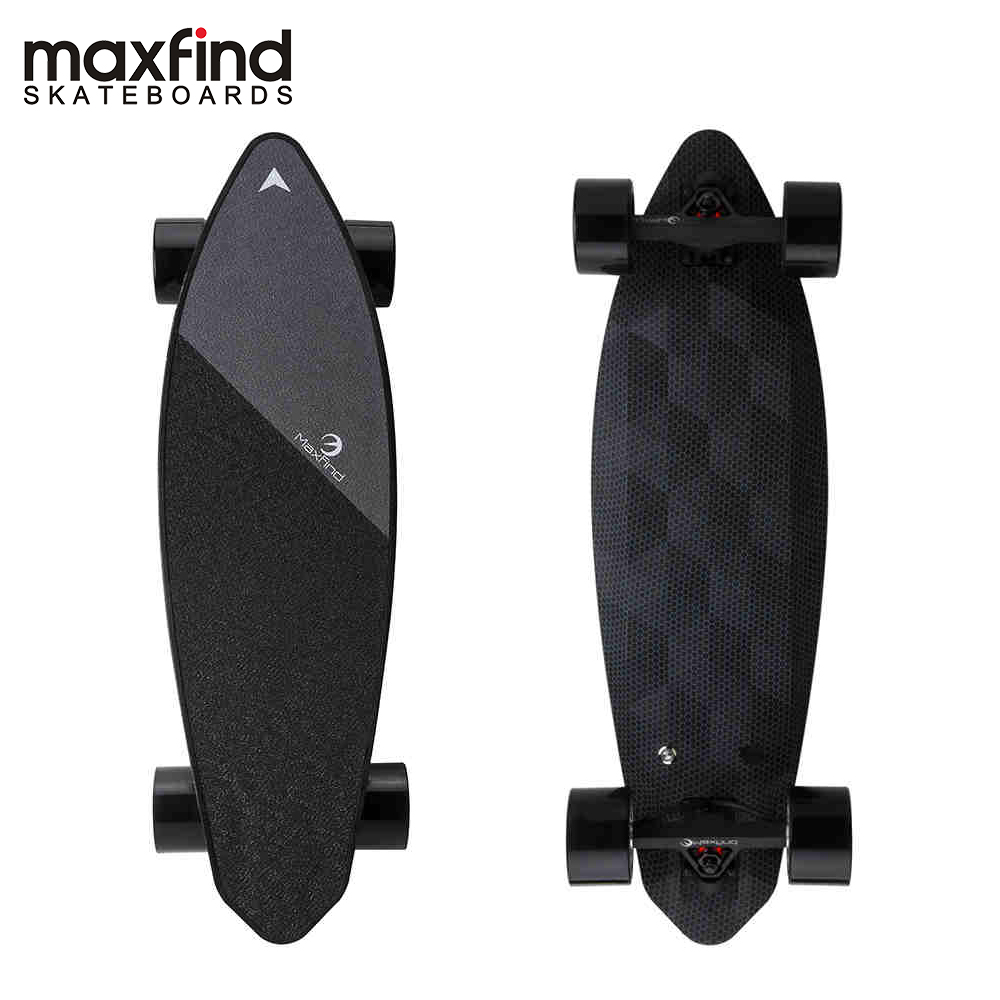 """Maxfind Limited Edition Electric Skateboard Max 2 Dark Longboard 31"""" 23 MPH Top Speed 16 Miles Max Range Dual Motor-in Skate Board from Sports & Entertainment"""