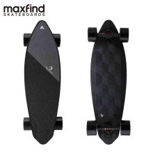 Maxfind Limited Edition Electric Skateboard Max 2 Dark Longboard 31 23 MPH Top Speed 16 Miles Range Dual Motor