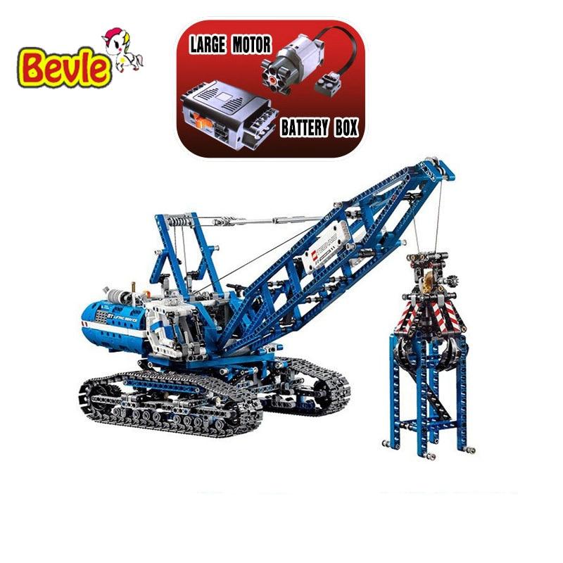 Lepin 20010 New 1401Pcs Genuine Technic Mechanical The Crawling Crane Set Building Blocks Compatible with Lepin 42042 Toys ювелирное изделие 20010