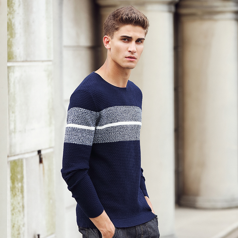 Image 3 - Pioneer Camp casual striped sweater men brand clothing Pullover  men fashion Designer sweaters for men 611201mens knitwearmens knitwear  fashiondesigner mens knitwear