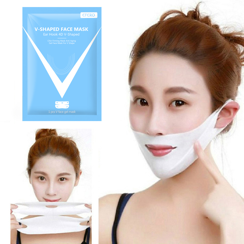 1PC Hydrogel Mask Lifting Face Mask Slimming Double Chin Lifting Face Mask Bandage Silicone Lift V Face Lift Tools Makeup TSLM1