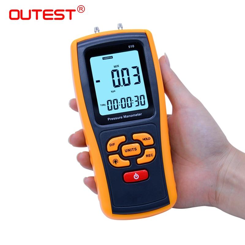 High-precision Digital Pressure Gauge Micro-Pressure Gauge Differential Pressure Meter Air Pressure Gauge GM510/GM511/GM520 0 1 0mpa pressure gauge yb150a zt