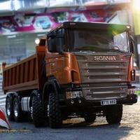 1/14 самосвал Scania полный привод 8X8 гидравлический самосвал высокий крутящий момент электрическая модель LS 20130002 RCLESU грузовик тамиа