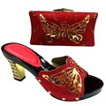 Italian Shoes With Matching Bag Set New Design Matching Shoes And Bags For Wedding Fashion Sandal And Handbag TT18