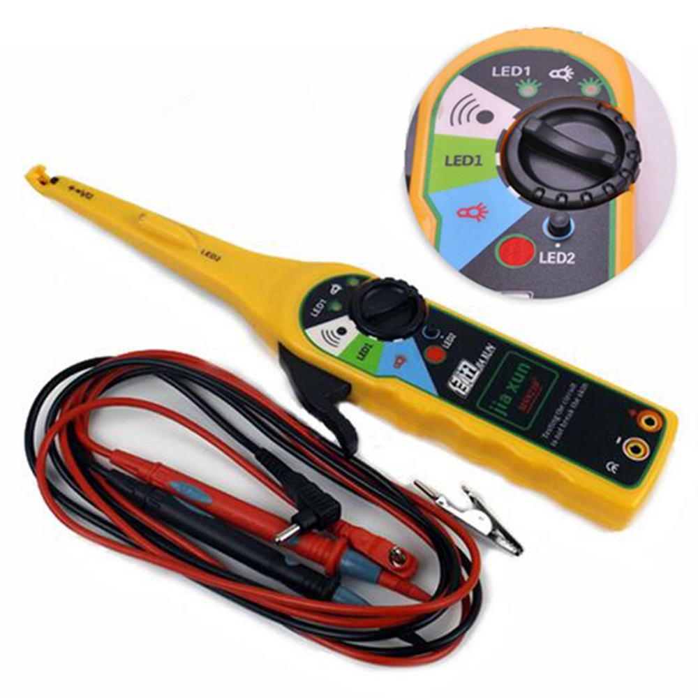 yellow color car auto power electric circuit tester lamp probe light rh aliexpress com electrical wiring testing generator electrical wiring test for homeowners