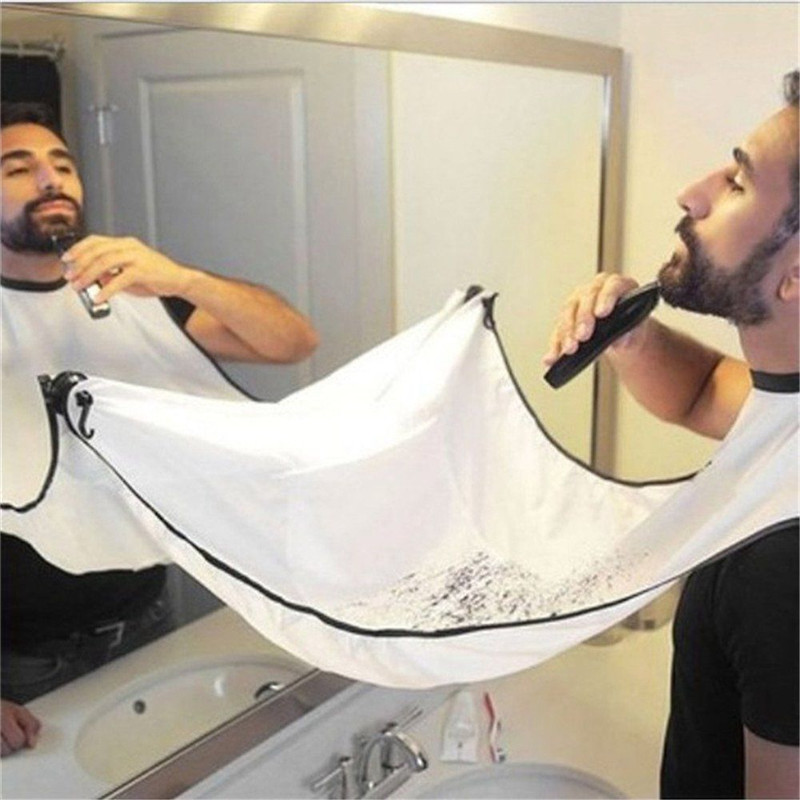 120x77cm Man Bathroom Apron Beard Apron Hair Shave Apron For Man Men's Facial Bear Barbe Waterproof Polyester Household Cleaning