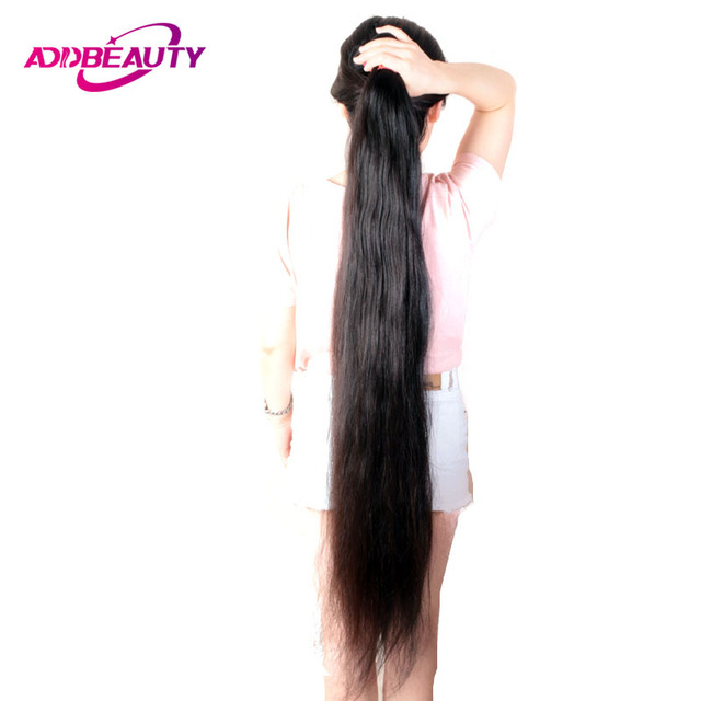 30 44 Inch Unprocessed Virgin Human Hair Extension 10A Double Drawn Brazilian Weave Bundles Straight Longer Length Natural Color 1