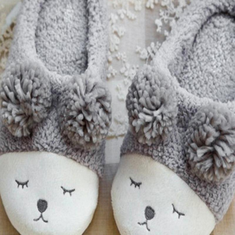 Cute Sheep Animal Cartoon Women Winter Home Slippers For Indoor Bedroom House Warm Cotton Shoes Adult Plush Flats Christmas Gift cotton cute slippers women penguin animal home slippers indoor shoes bedroom house adult guest warm winter soft flats ladies