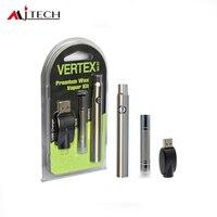 50 шт./лот электронные сигареты Vertex Премиум воск испаритель комплект 380 мАч разогреть батарея с B1 воск распылитель Vape ручка VS CE4/CE5