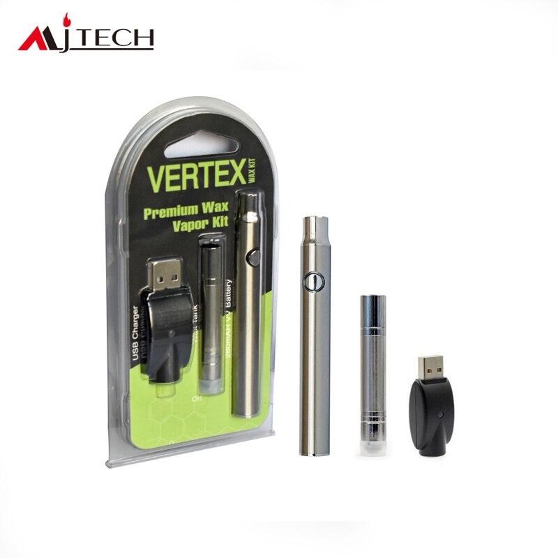 50pcs/lot Electronic Cigarettes Vertex Premium Wax Vaporizer Kit 380mah preheat battery with B1 Wax Atomizer Vape pen VS CE4/CE5 ce5 cigarro eletronico e ce5 650 900 1100mah ego 50pcs lot ego ce5