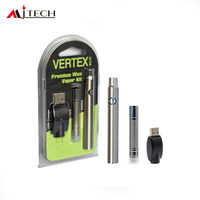 50pcs/lot Electronic Cigarettes Vertex Premium Wax Vaporizer Kit 380mah preheat battery with B1 Wax Atomizer Vape pen VS CE4/CE5