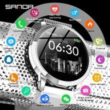 SANDA smart watch ladies men's heart rate sphygmomanometer fitness tracker Bluetooth sports watch for iOS Android цена