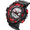 Amantes de Los Deportes de primeras Marcas Reloj LED de Moda Reloj Digital Impermeable Al Aire Libre Militar de Los Hombres Relojes de Pulsera Relogios masculinos 2016