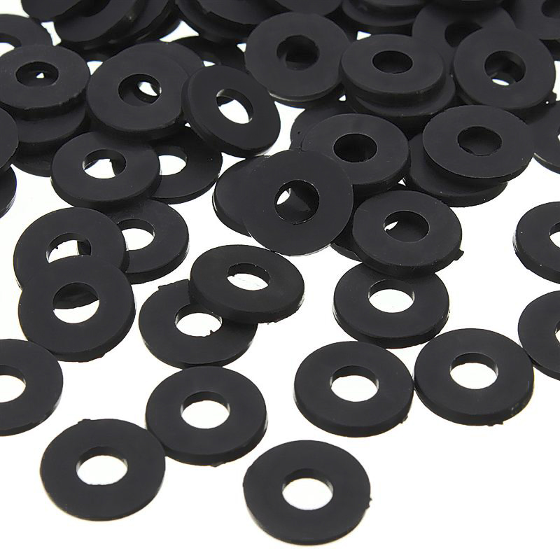 5mm x 2mm x 1mm Nylon Flat Insulating Washers Spacer Gasket Beige 100pcs