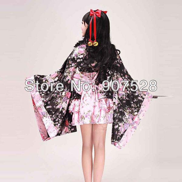 Japanese Anime Cosplay Kimono Lolita Maid Costume Beautiful Dress
