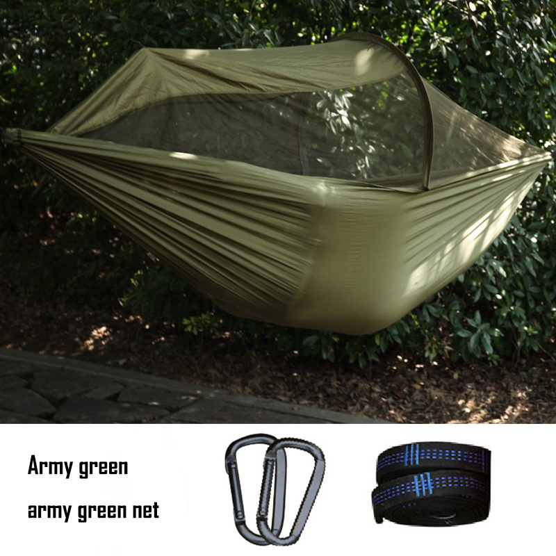 Multiuse 2 person Portable Hammock Camping Survivor Hammock with Mosquito Net Stuff Sack Swing hamac Bed Tent Use Furniture portable camping hammock tent rope furniture hammock for room