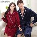 Dote Me Mulheres Robes De Inverno Camisola das Mulheres & Homens Engrossado Veludo Camisola Pijama Roupão Roupão de Flanela Macia e Quente