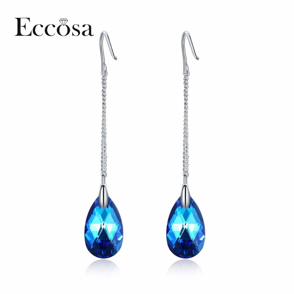 Modeschmuck ohrringe swarovski  Online Kaufen Großhandel swarovski kristall lange ohrringe aus ...
