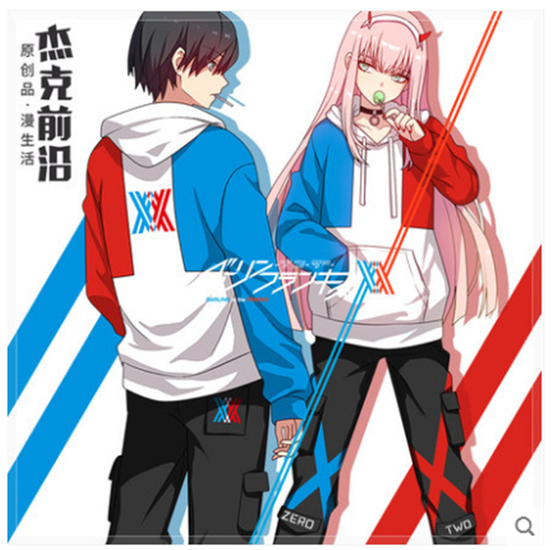 DARLING in the FRANXX anime cosplay hoodies fan art thick winter fashion coat new year suit