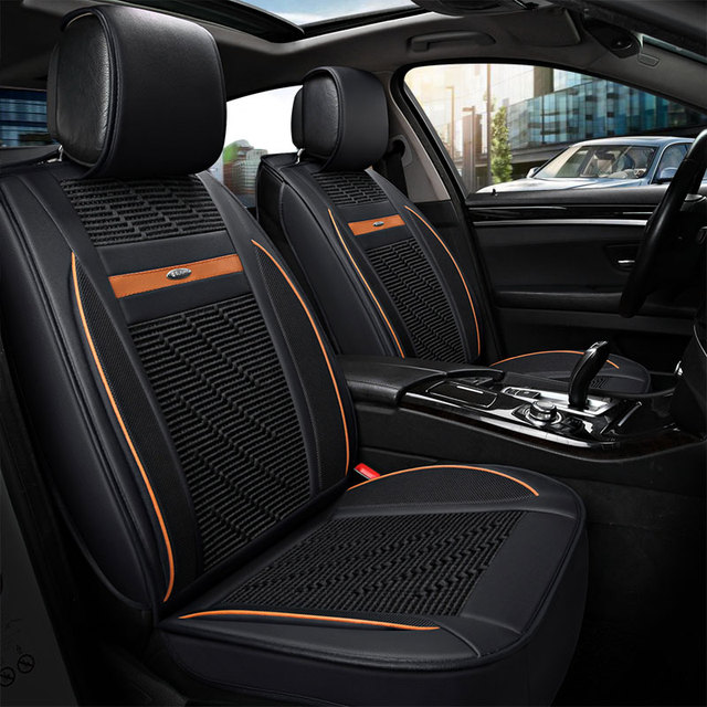 Leather Auto Universal Car Seat Cover Covers For Ford Lanos New Fiesta Sedan Edge Everest Mustang