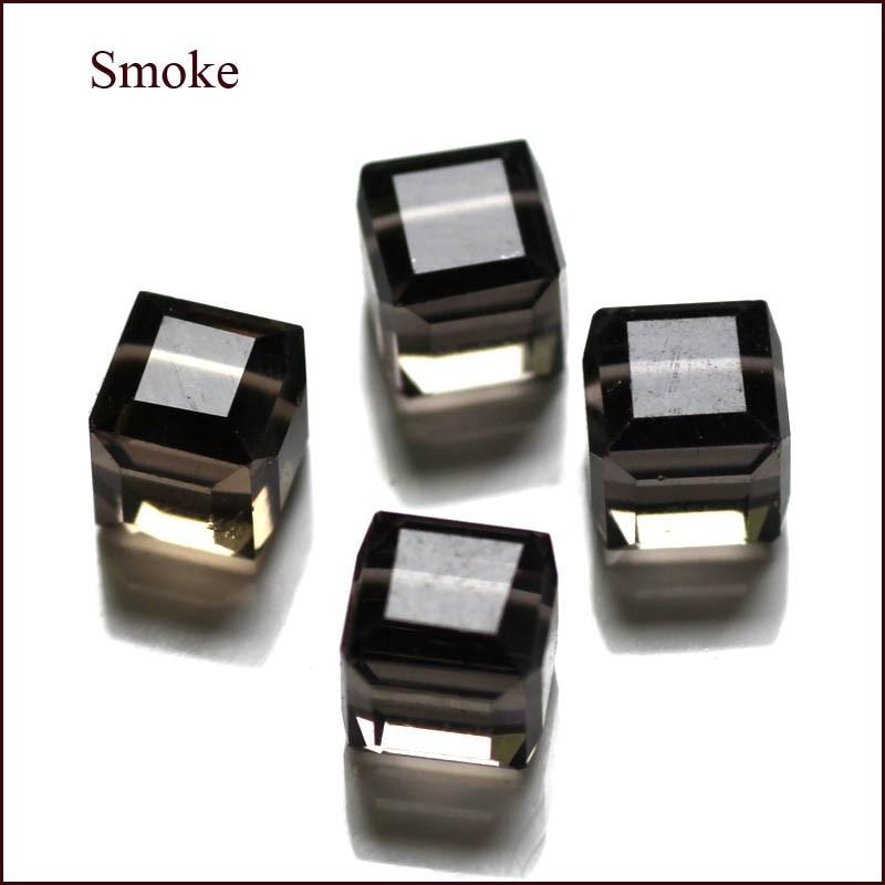 100 Teile / los Kristall Perlen 5601 Quadratwürfelform 8x8 MM 18 - Modeschmuck - Foto 5