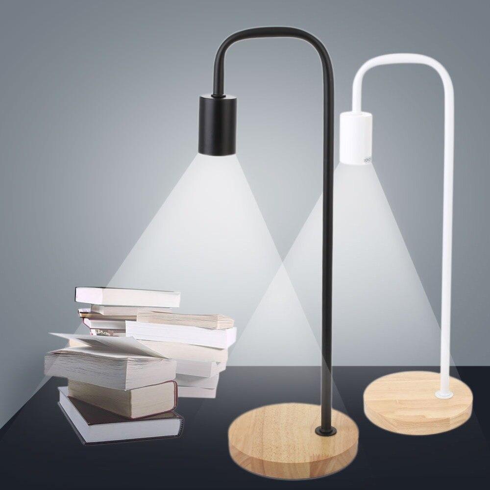 Деревянный База настольная лампа настольная огни исследование Освещение защита глаз США Plug E27 40 Вт ...