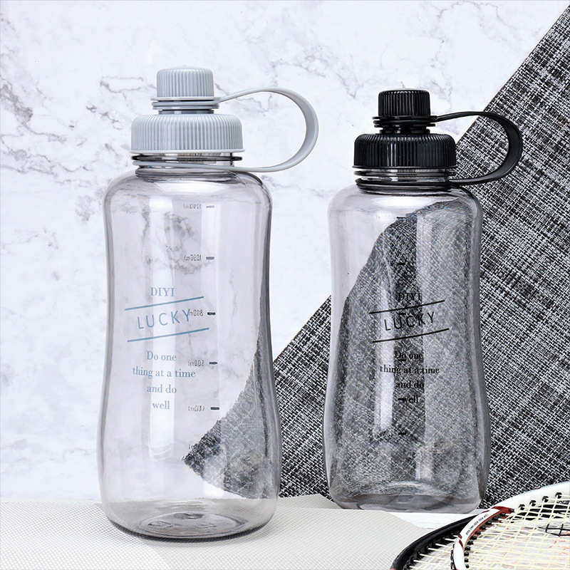 1500ML High capacity Leakproof portable water bottle Sports plastic kettle Travel hiking camping office kettle kids water bottle|Water Bottles| |  - AliExpress