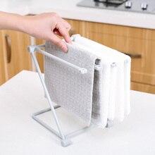 Foldable Vertical Dishcloth Kitchen Towel Hanger, Perforation-Free Mesa Shelf, Water Cup Shelf