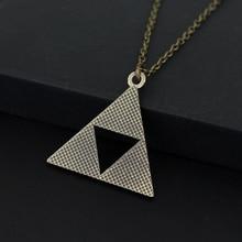 Anime The Legend of Zelda Triforce Necklace Otaku Pendant Bronze