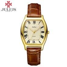 2016 Горячих женщин античные Римские наручные часы женщины кожа наручные часы моды случайные Miyota кварцевые часы Юлий 703 часы подарок