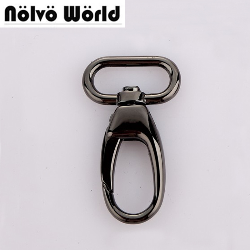 50pcs 5 Colors 55 25mm 1 Inch gun metal trigger snap hook swivel clasp Handbag Hook